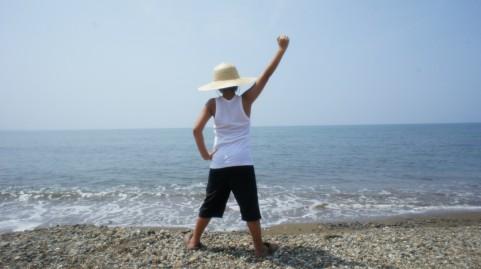 小学生 夏休み 海