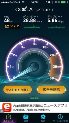 SoftBank Air通信速度