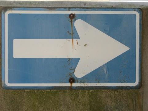 一方通行標識