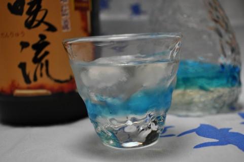 琉球ガラス,グラス,泡盛,一升瓶
