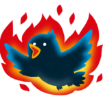 Twitter(ツイッター)に余計なことを書いて炎上する様子を描いたイラスト