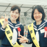自民党小野田議員セーラー服姿、倉敷市長と