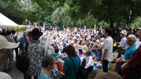 7.21集団的自衛権行使容認に反対するオールさいたま市民集会に、2200人