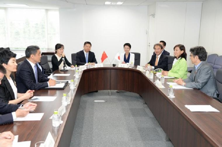 蓮舫代表、宋濤・中国共産党中央対外連絡部長と会談