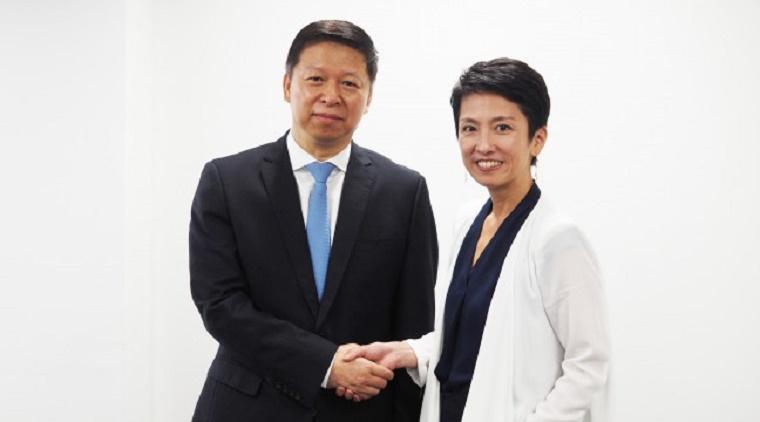 蓮舫代表、宋濤・中国共産党中央対外連絡部長と会談 - 民進党