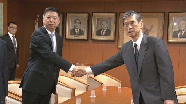 自民 高村氏 中国共産党部長と会談 北制裁の厳格履行求める