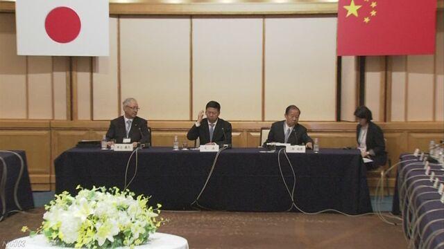 日中の与党交流 対北朝鮮制裁決議などめぐり意見交換