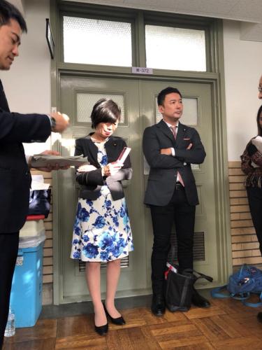 山本太郎と森裕子の売名に報道陣も呆れて退出!財務省押しかけパフォーマンスを4時間も続ける異常な行動