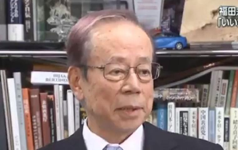速報!福田康夫元首相が紫ジジイになっていた!