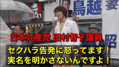 動画!事務次官セクハラ問題で共産党にブーメラン!田村智子「実名明かさないセクハラ告発に怒ってます」