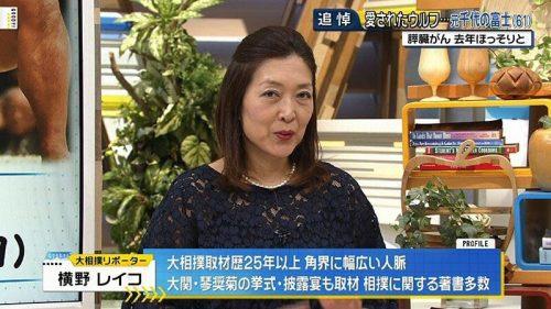 貴乃花親方倒れる→横野レイコがグッディ登場→無事炎上「テレビに出すな!薄笑い腹立つ!お前のせい!」