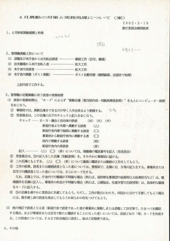 暴露!日本共産党の「工作指示書」が発掘される!役所内で人事異動情報を事前入手する工作活動などの実態