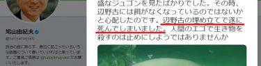 【鳩山由紀夫の負け】ジュゴンの死「辺野古工事と無関係」環境監視委員会が分析、漂着4日前に外傷による悲鳴?