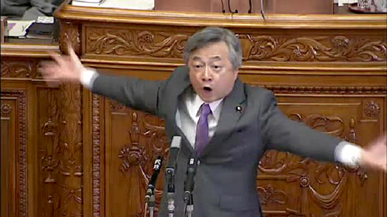【動画】立憲民主党の白真勲さん、安倍総理が憎すぎて本会議中にファーッ!ってなるハプニング発生!一時議場は騒然