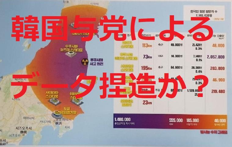 韓国与党発表「東京五輪放射性物質マップ」データを捏造か?引用元とされたサイトが抗議「事実と異なる測定値」