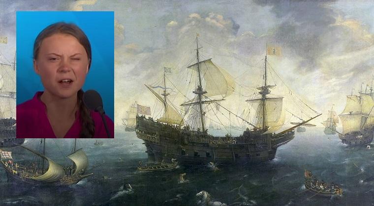 わがまま?環境少女グレタさん移送のためスペインが無敵艦隊を派遣か?飛行機を拒否して世界に迷惑をかける