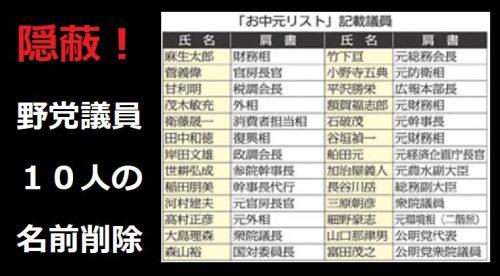 ジャパンライフの「お中元リスト」野党議員10人の名前を削除して公開、日刊ゲンダイが共産党の隠蔽工作に協力か?