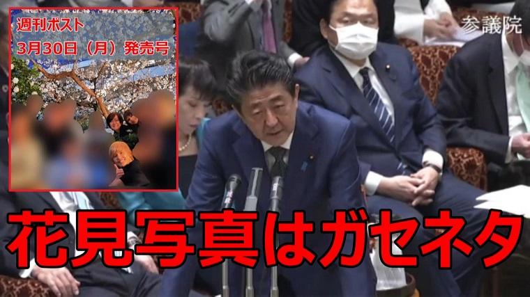 【動画】昭恵夫人の花見写真はガセネタだった!総理「都内レストランでの記念写真、公園で花見をした事実はない」